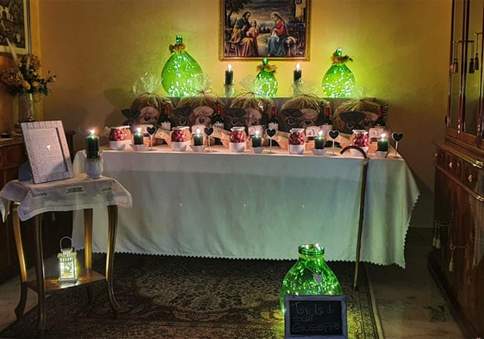 La tavola di San Giuseppe a casa Rizzello