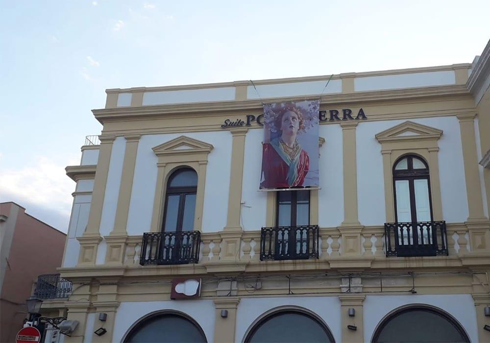 L'effigie di Santa Cristina all'ingresso della città vecchia a Gallipoli