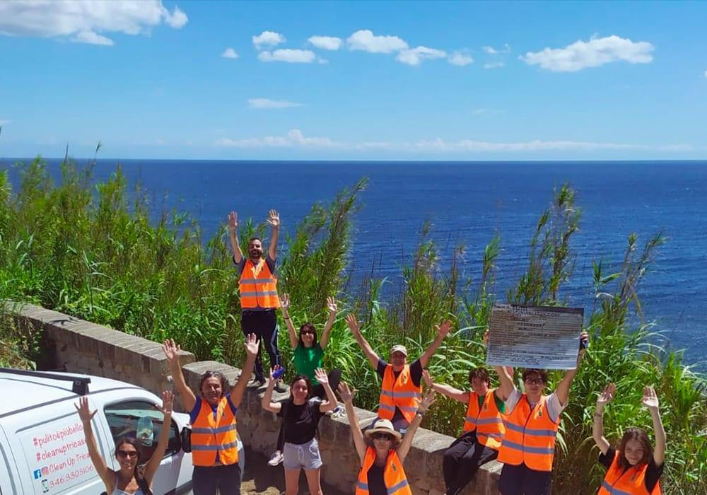 I volontari di Clean Up Tricase